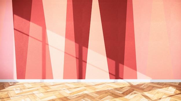 Wohnzimmer mit bunter wand