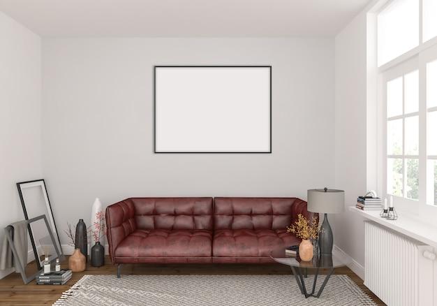 Wohnzimmer mit horizontalem rahmen