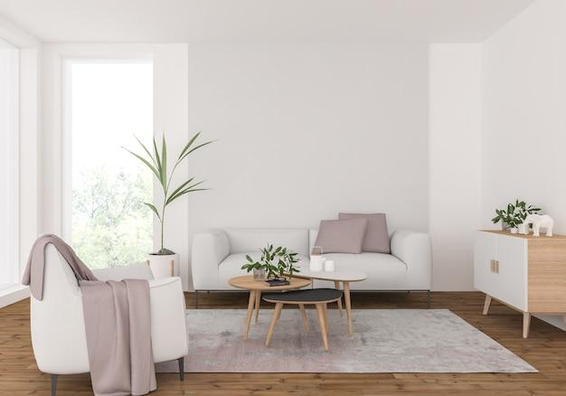 Wohnzimmer mit leeren wand