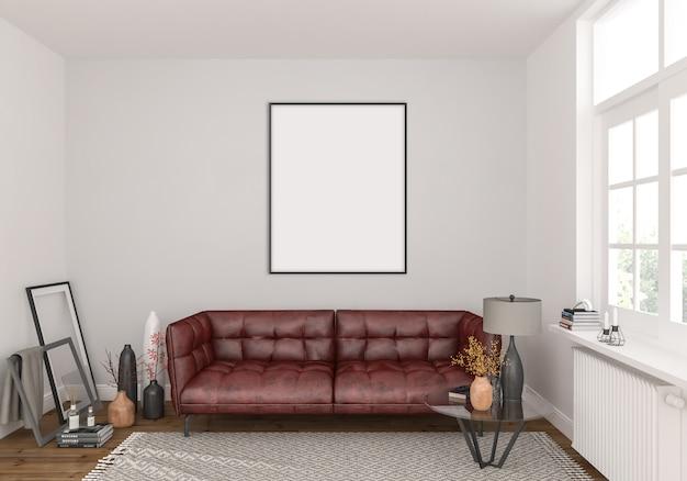 Wohnzimmer mit vertikalem rahmen