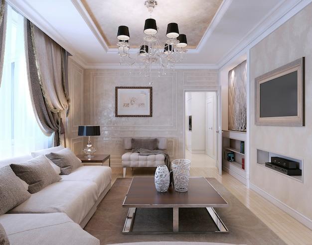 Wohnzimmer neoklassizistischer stil