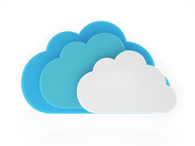 Wolken-illustration isoliert auf weiß