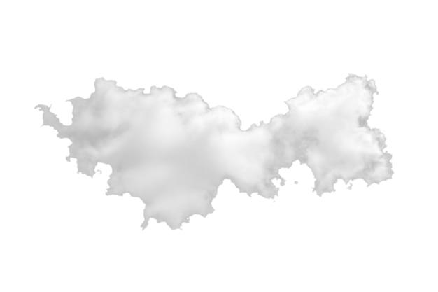 Wolken isoliert auf weißem hintergrund