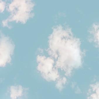 Wolken von unten