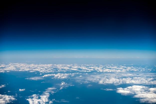 Wolkengebilde, blick aus dem flugzeug