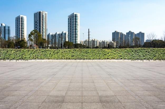 Wolkenkratzer blaue quadrate szene kommerziellen
