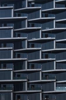 Wolkenkratzer wände. geometrische karierte illustration. abstrakter hintergrund