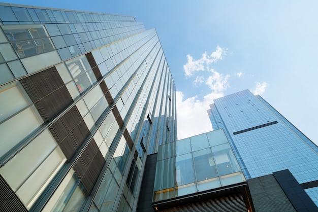 Wolkenkratzern im finanzzentrum oben betrachten, chongqing, china
