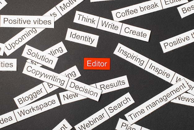 Word editor, umgeben von anderen wörtern
