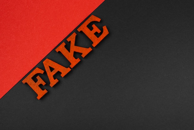 Word fake flat lag mit kopierraum