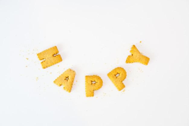 Wort glücklich sortierung von cookies
