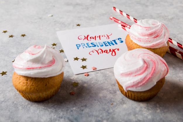 Wort glücklicher präsidententag. patriotic baking supply cup kuchenhalter für urlaub und 4. juli konzepte.