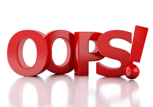 Wort oops 3d