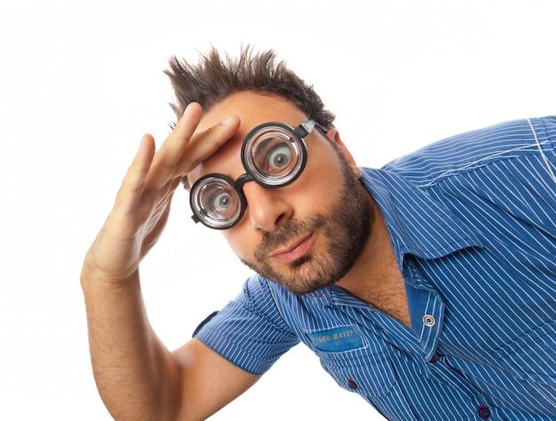 Wow-ausdruck mit brille