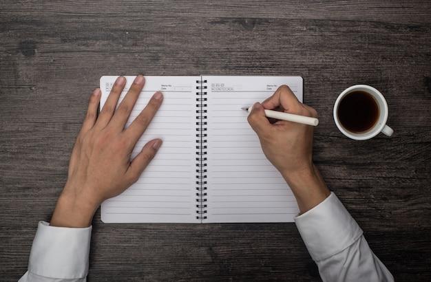 Writting in einem notebook