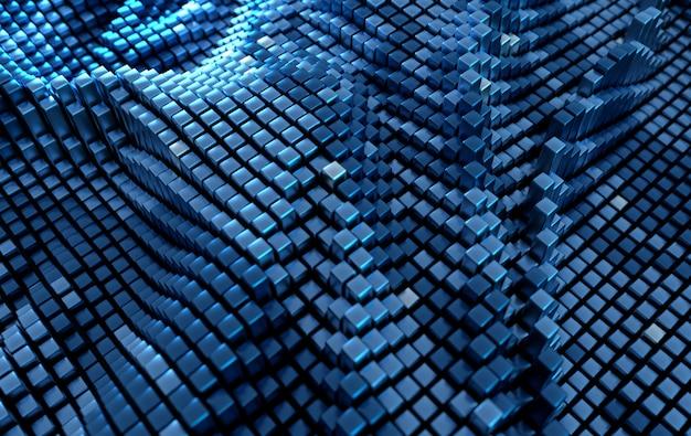 Würfelmuster futuristischer hintergrund science-fiction-hintergrund von geometrischen formen