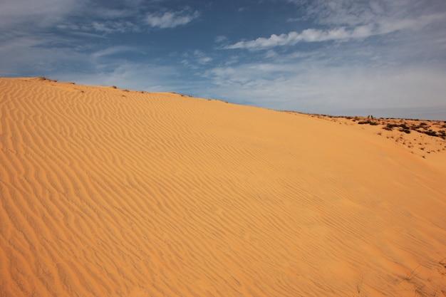 Wüste an einem sonnigen tag