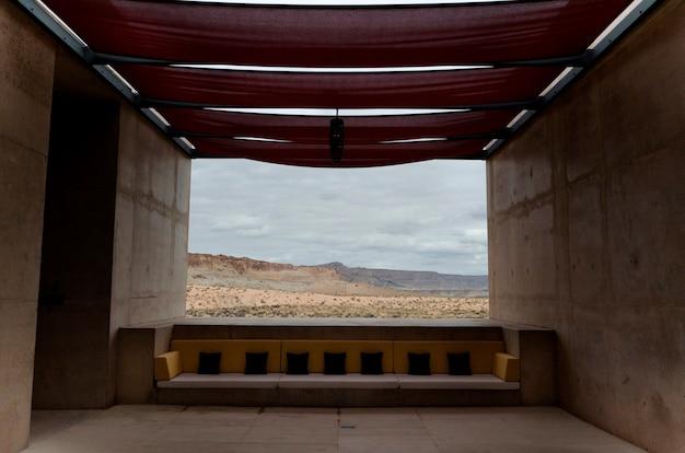 Wüste angesehen durch von einem fremdenverkehrsort, utah, usa