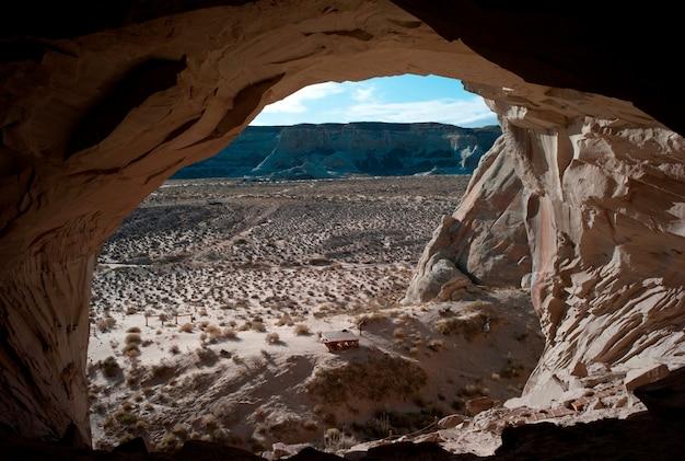 Wüste angesehen von ulrikes höhle, amangiri, canyon point, utah, usa