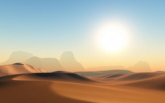Wüste mit schatten