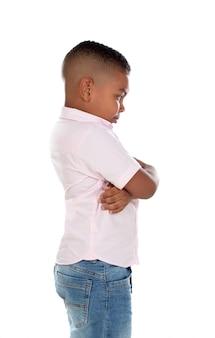 Wütendes lateinisches kind