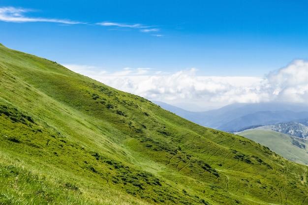Wunderbare landschaft der ukrainischen karpaten.
