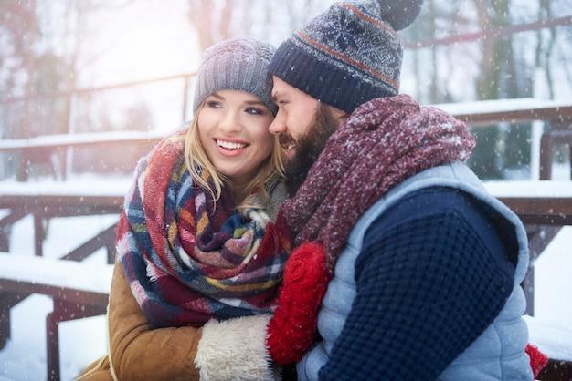 Wunderbare zeit im winterurlaub verbracht