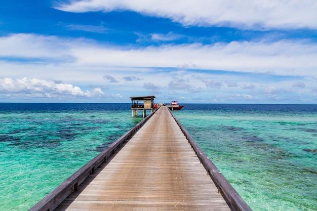 Wunderschöner naturblick auf den malediven