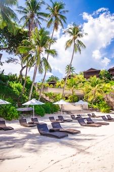 Wunderschönes kleines hotel in einem tropischen, exotischen resort