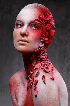 Wunderschönes, künstlerisches make-up