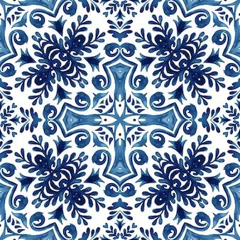 Wunderschönes nahtloses abstraktes ornamentales aquarell-arabeskenmuster