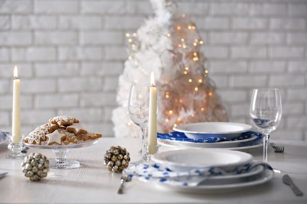 Wunderschönes weihnachtsgedeck
