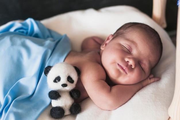 Wundervolles baby im schlaf