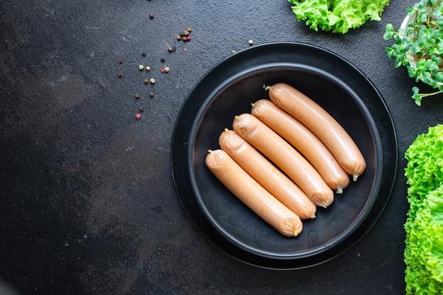 Wurst soja pflanzliches eiweiß tofu oder hülsenfrüchte seitan fleischloser weizen vegetarischer oder veganer snack
