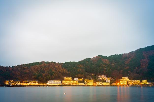 Yamanashi, japan - 22. november: kawaguchiko in yamanashi, japan