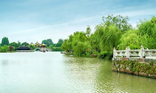 Yangzhou schlanke westsee wuting bridge