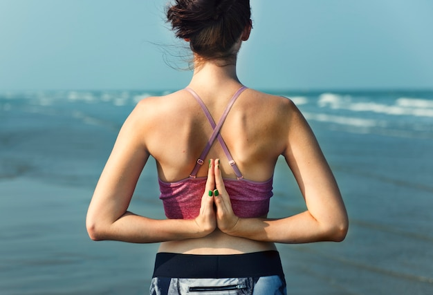 Yoga-meditations-konzentrations-ruhiges serene relaxation concept