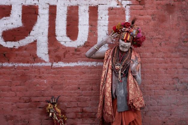Yogi im pashupatinath tempel nepalese kathmandu pal, 20.03.2017