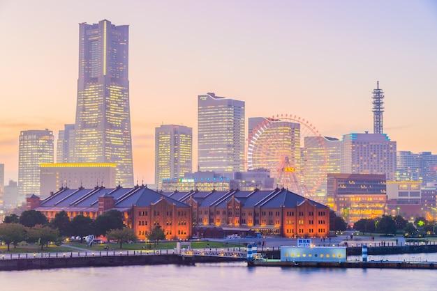 Yokohama skyline stadt