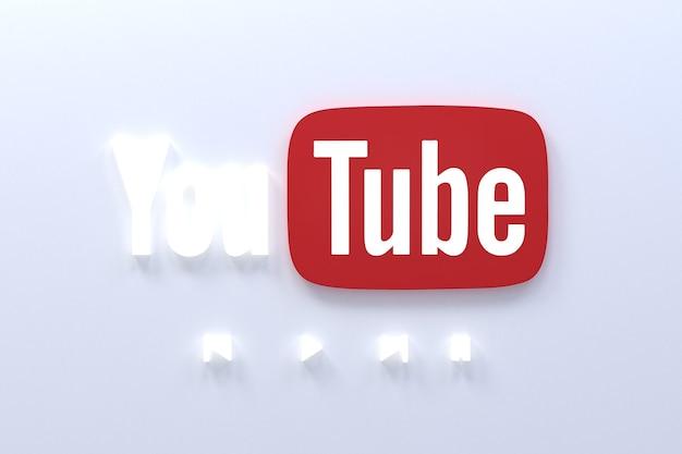 Youtube-anwendung 3d-social-media-symbole logo 3d-rendering
