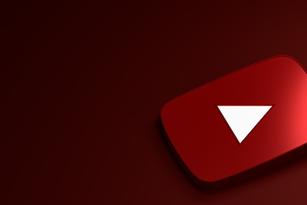 Youtube logo 3d rendern
