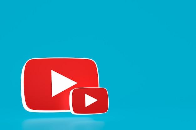 Youtube-logo und video-player-design oder video-media-player-oberfläche