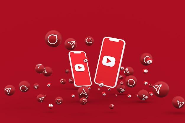 Youtube-symbol 3d-rendering