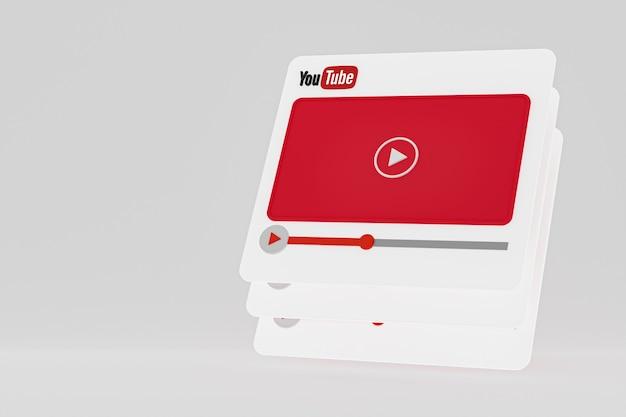 Youtube video player design oder video media player oberfläche