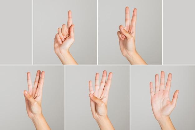 Zählen mit den fingern
