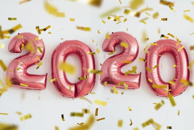 Zahlballone des weihnachtsneuen jahres 2020. feier, feiertag.