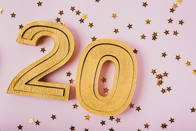 Zahlen des neuen jahres 2020 der nahaufnahme