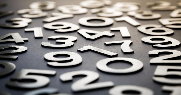 Zahlen mit festen zahlen geschrieben