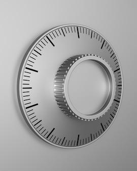 Zahlenschloss, nahaufnahme. isoliertes 3d-rendering