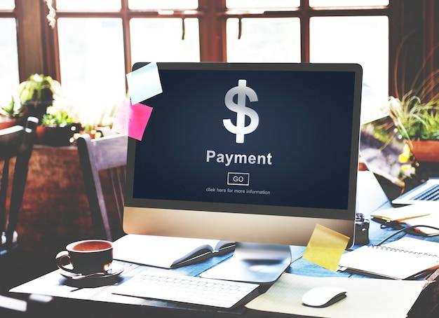Zahlungs-haftungs-geld-finanz-banking-konzept